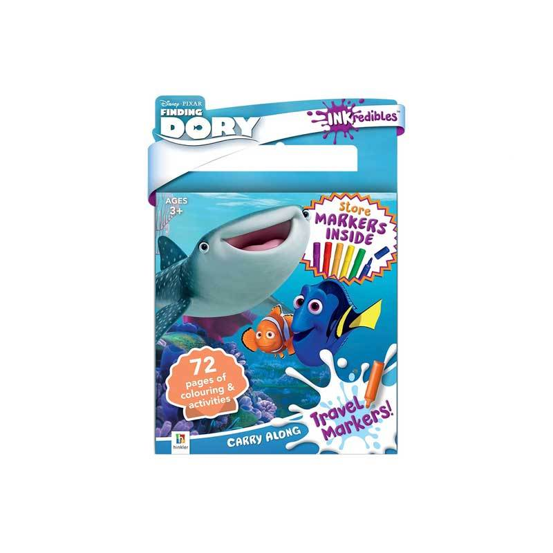 Hinkler Inkredibles Finding Dory Carry Along Travel Markers & Activity Book | Koop.co.nz