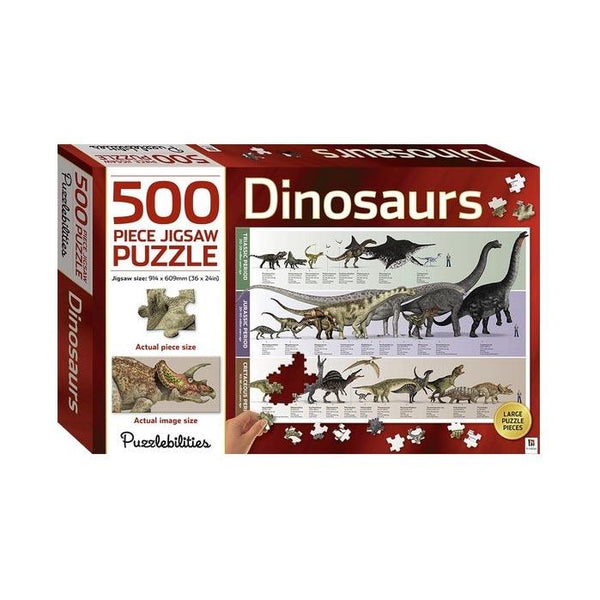 Hinkler Dinosaurs Jigsaw Puzzle (500pc) | Koop.co.nz