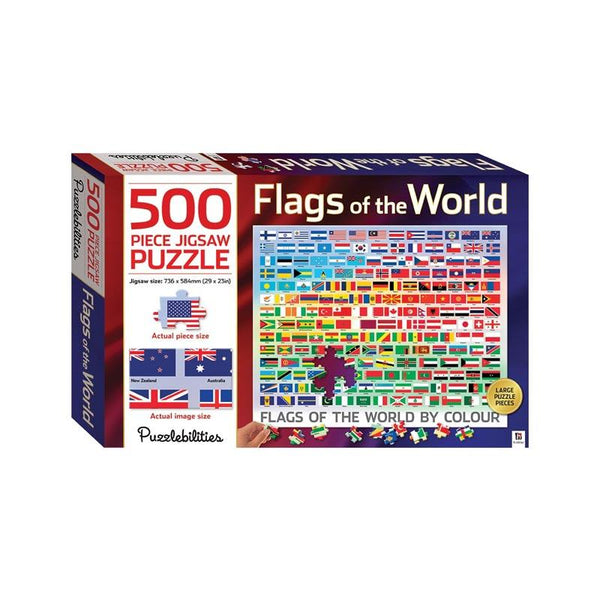 Hinkler Flags of the World Jigsaw Puzzle (500pc) | Koop.co.nz