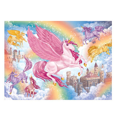 Hinkler Sparkly Jigsaw - Unicorn Kingdom (100pc) | Koop.co.nz