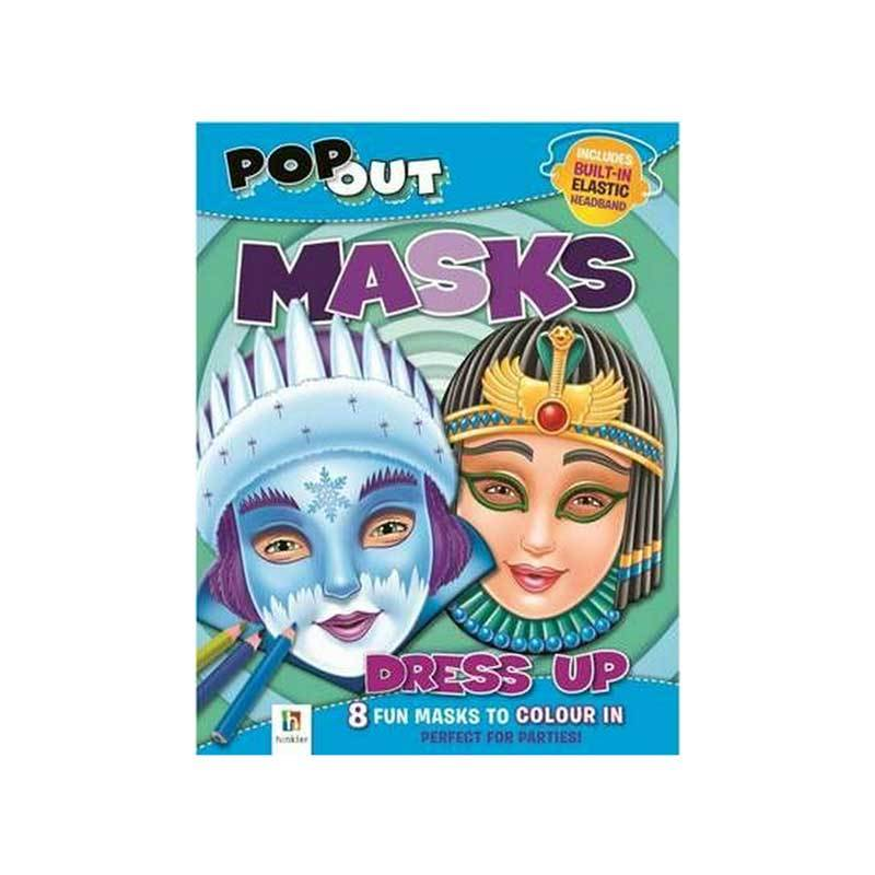 Hinkler Pop-out Masks to Colour – Dress Up | Koop.co.nz