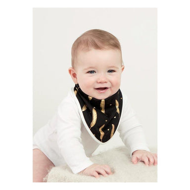 Elephant Ollie Bandana Baby Bib – Gold Feather | Koop.co.nz