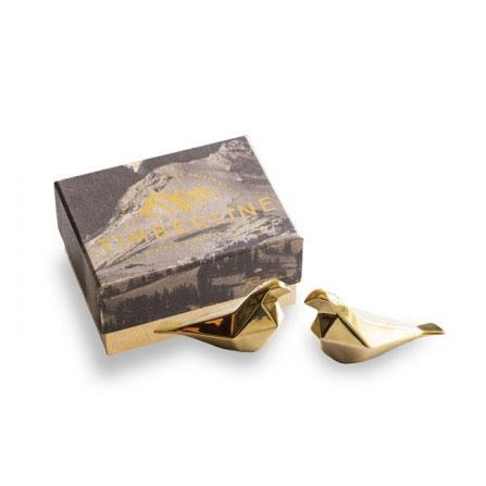 Rosanna Inc Timberline Gold Bird Salt & Pepper Shakers | Koop.co.nz