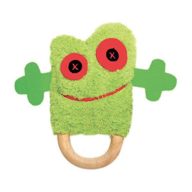 O.B Designs Ding A Ring Teether Rattle - Tony Tree Frog | Koop.co.nz