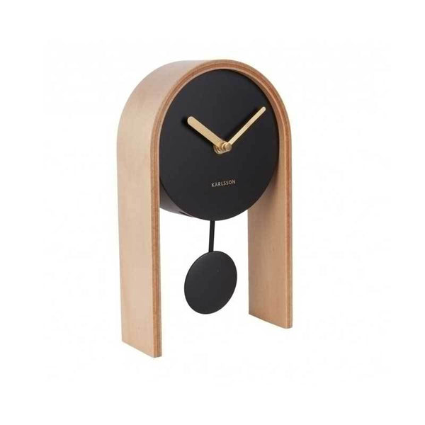 Karlsson Smart Pendulum Table Clock – Light Wood | Koop.co.nz