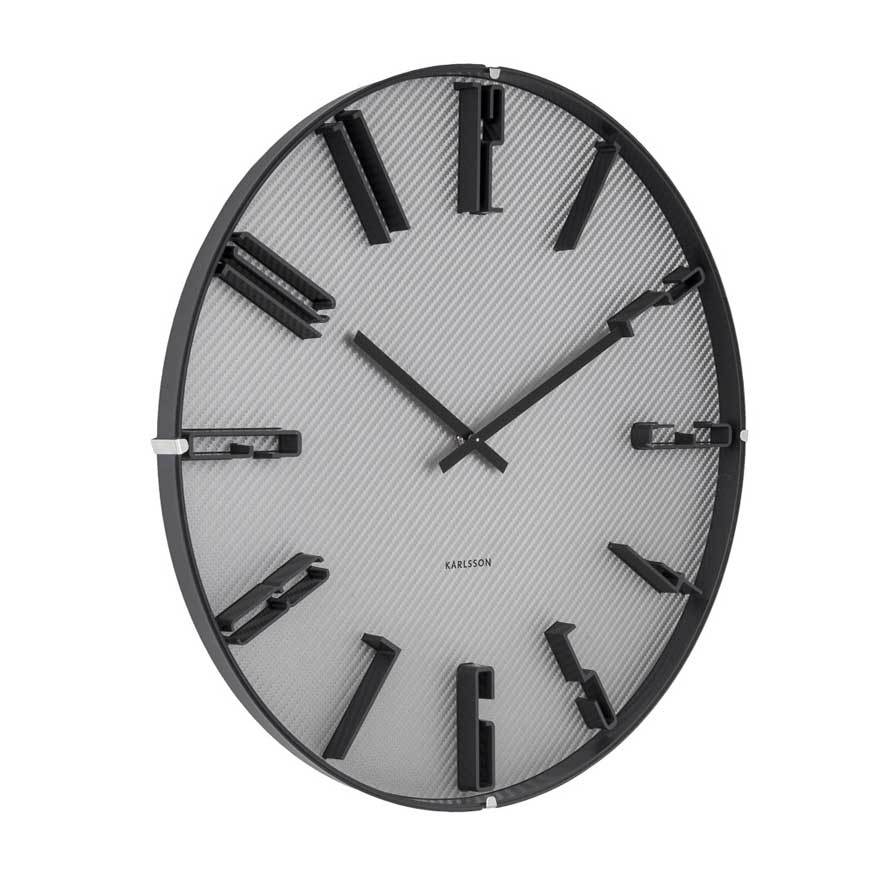 Karlsson Sentient Carbon Wall Clock (40cm) | Koop.co.nz