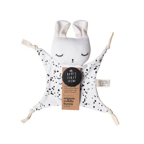 Wee Gallery Organic Cuddle Bunny - Splatter | Koop.co.nz