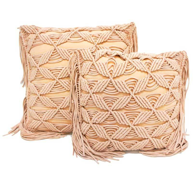 Stoneleigh & Roberson Pink Macrame Cushion (45cm) | Koop.co.nz