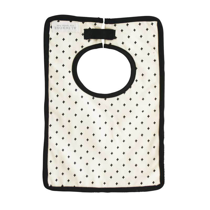 Alimrose Charlie Black Cross Baby Bib | Koop.co.nz