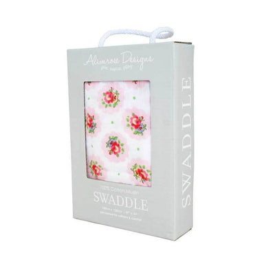 Alimrose Muslin Swaddle Wrap – Floral Medallion | Koop.co.nz