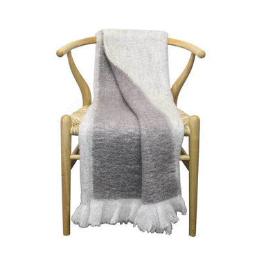 Le Forge Wool Blend Throw – Soft Grey | Koop.co.nz
