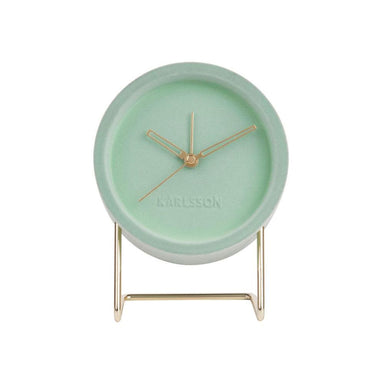 Karlsson Lush Velvet Alarm Clock - Grayed Jade | Koop.co.nz