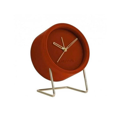 Karlsson Lush Velvet Alarm Clock - Clay Red | Koop.co.nz