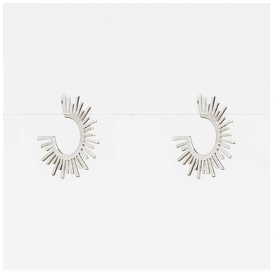 Stella & Gemma Silver Sunburst Earrings | Koop.co.nz