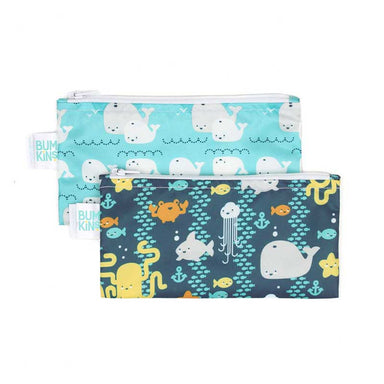 Bumkins Small Snack Bag 2pk - Sea Friends | Koop.co.nz