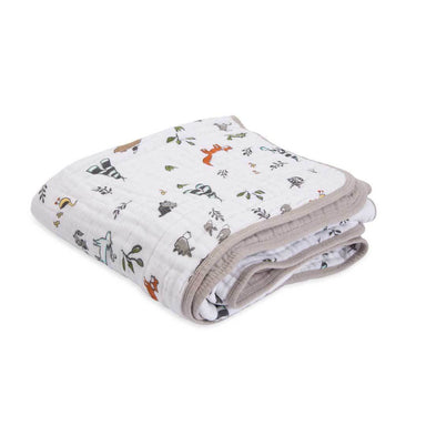 Little Unicorn Cotton Muslin Quilt – Forest Friends | Koop.co.nz