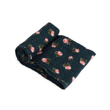 Little Unicorn Cotton Muslin Swaddle – Midnight Rose | Koop.co.nz
