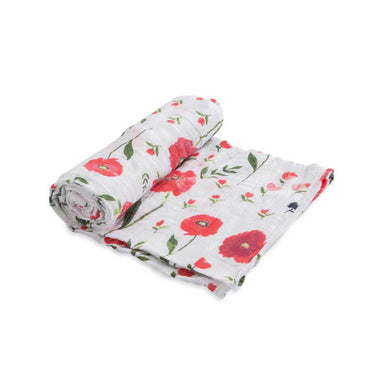 Little Unicorn Cotton Muslin Swaddle – Summer Poppy | Koop.co.nz