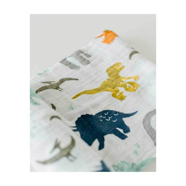 Little Unicorn Cotton Muslin Swaddle – Dino Friends | Koop.co.nz