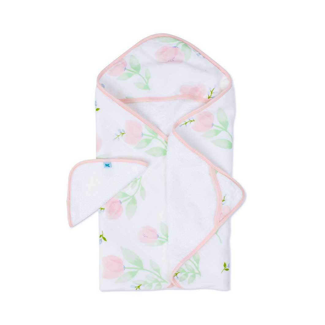 Little Unicorn Hooded Towel & Wash Cloth Set – Pink Peony | Koop.co.nz