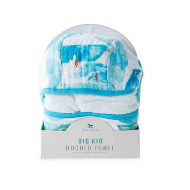 Little Unicorn Big Kids Hooded Towel – Surf | Koop.co.nz