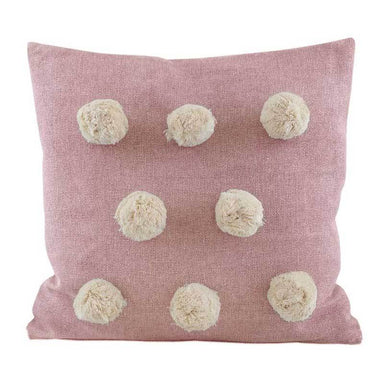 Raine & Humble Pink Pom Pom Cushion | Koop.co.nz