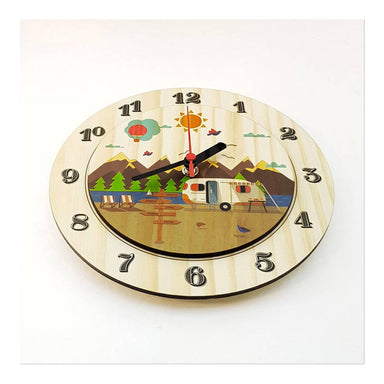 Crystal Ashley Small Clock – Kiwi Holiday (20cm) | Koop.co.nz