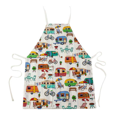 Harvest Creations Reversible Kids Apron – Caravan/Stripe | Koop.co.nz