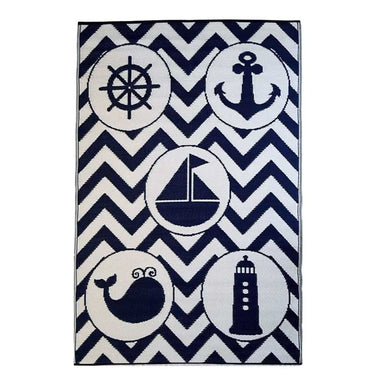 Little Portico Indoor/Outdoor Reversible Rug – Sea Life | Koop.co.nz