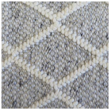 Handcrafted Cream Cross Wool Rug | Koop.co.nz