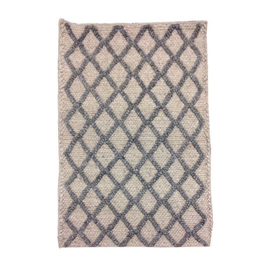 Handcrafted Drury Grey Cross Wool Rug | Koop.co.nz