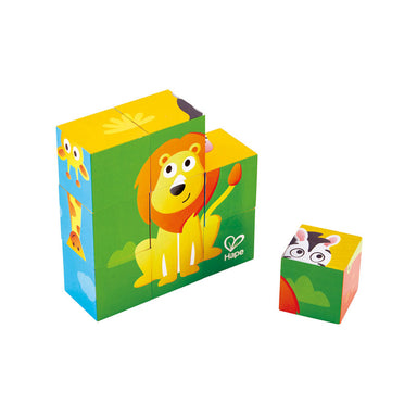 Hape Jungle Animal Block Puzzle (9pc) | Koop.co.nz