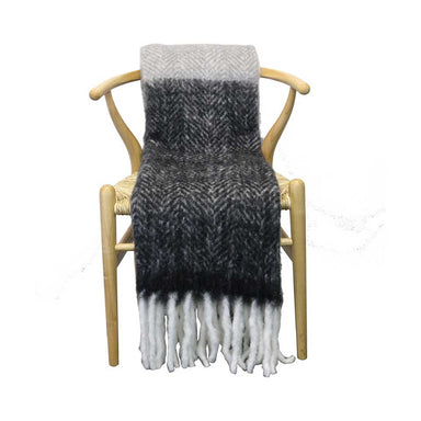 Le Forge Wool Blend Throw – Black & Grey | Koop.co.nz