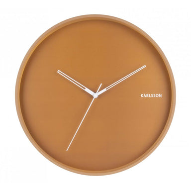 Karlsson Hue Wall Clock – Caramel Brown (40cm) | Koop.co.nz