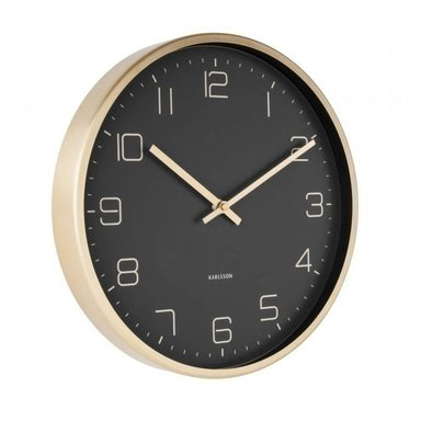 Karlsson Gold Elegance Wall Clock - Black (30cm) | Koop.co.nz