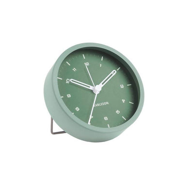 Karlsson Tinge Alarm Clock - Steel Green | Koop.co.nz