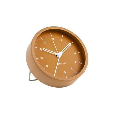 Karlsson Tinge Alarm Clock - Caramel Brown | Koop.co.nz