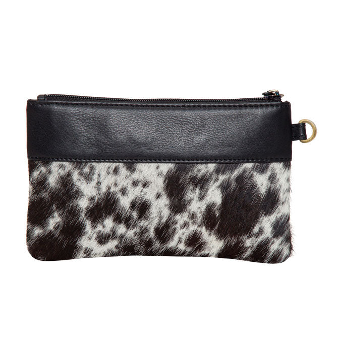 The Design Edge Wales Clutch - Jersey Hairon & Black Leather | Koop.co.nz