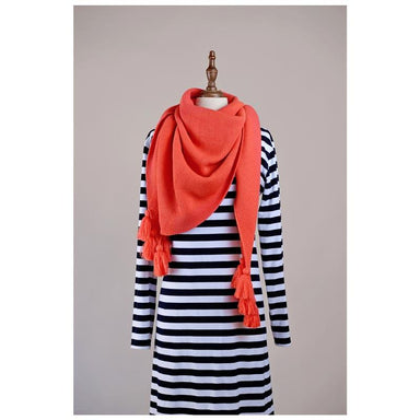 Hello Friday Fiver Tassel Wrap Scarf – Coral | Koop.co.nz