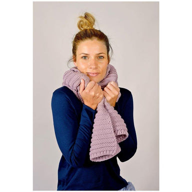 Hello Friday Best Friend Knit Scarf – Mauve | Koop.co.nz