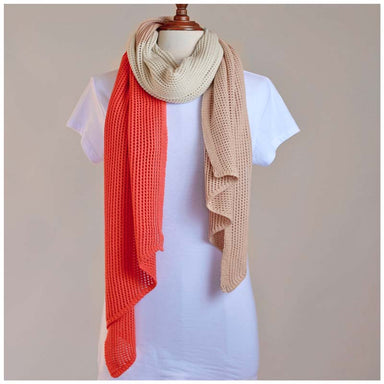 Hello Friday Stylist Scarf - Tri Coral | Koop.co.nz