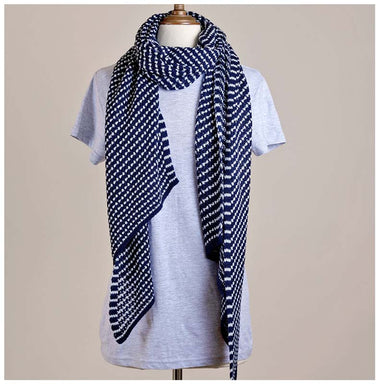 Hello Friday Stylist Scarf - Ink Stripe | Koop.co.nz