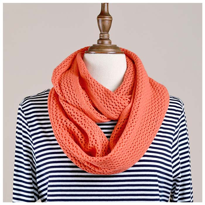 Hello Friday MVP Infinity Scarf - Coral | Koop.co.nz