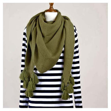 Hello Friday Fiver Tassel Wrap Scarf – Iguana | Koop.co.nz