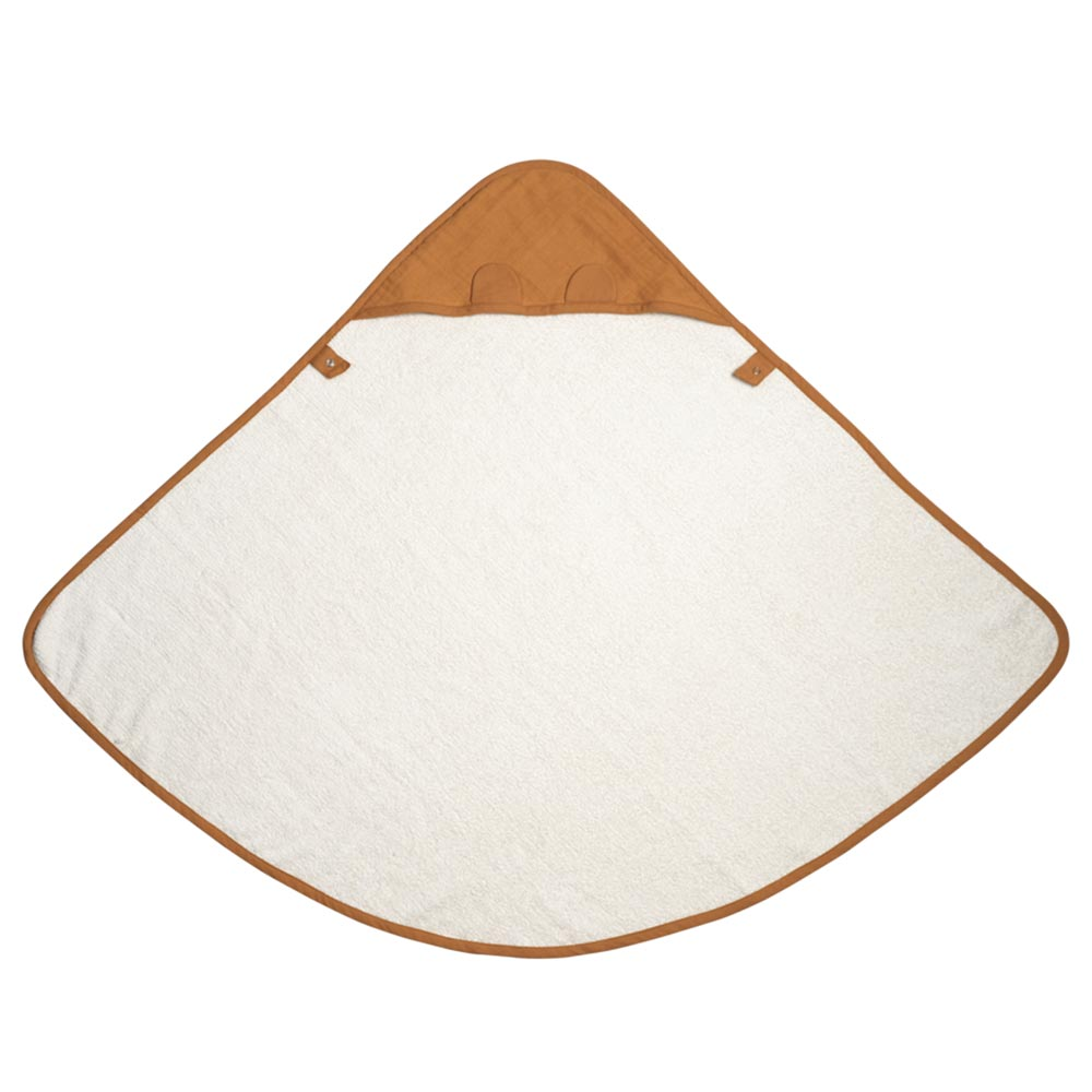 Fabelab Organic Baby Hooded Towel – Ochre Bear | Koop.co.nz