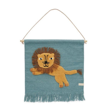 OYOY Jumping Lion Wall Hanging | Koop.co.nz