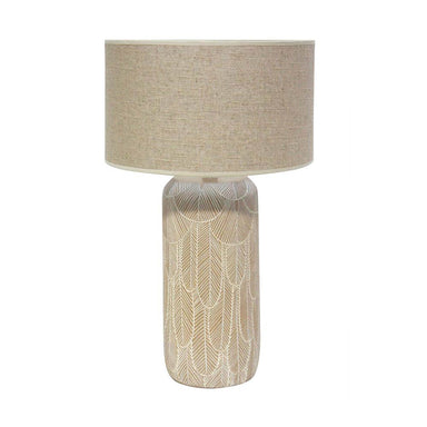 Banyan Home Feather Table Lamp (71cm) | Koop.co.nz
