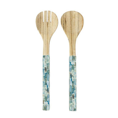 LaVida Blue Shell Salad Servers | Koop.co.nz
