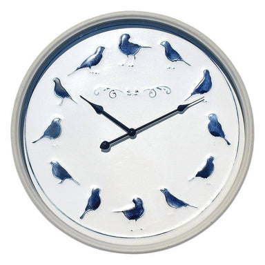 LaVida Blue Bird Rustic Metal Clock (47.5cm) | Koop.co.nz