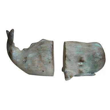 LaVida Light Washed Whale Bookends | Koop.co.nz